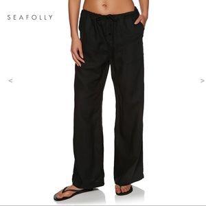 NWT Seafolly Modern Love Linen beach Pant